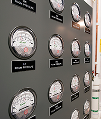Modular Cleanrooms Pressure Gauges